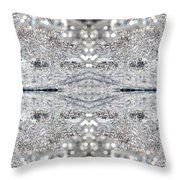 Ice Storm Abstract Throw Pillow