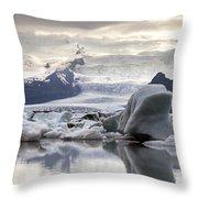 iceland Jokulsarlon Throw Pillow