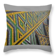 Iconic Rooftop Throw Pillow
