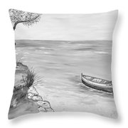 Il Pescatore Solitario Throw Pillow