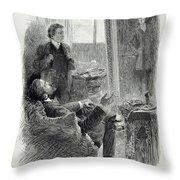 Illustration From The Picture Of Dorian Throw Pillow
