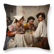 In A Roman Osteria Throw Pillow