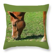 In Green Pasture Throw Pillow