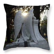 In The Shadow Of His Light Throw Pillow