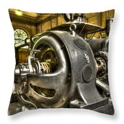 In The Ship-lift Engine Room Throw Pillow by Heiko Koehrer-Wagner