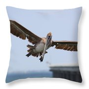 Incoming Pelican Throw Pillow