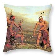 Indian Ball Game Throw Pillow