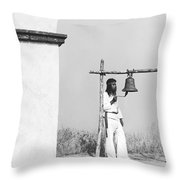 Indians Building Missions Throw Pillow