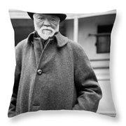Industrialist Andrew Carnegie Throw Pillow