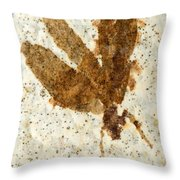 Insect Fossil Throw Pillow