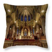 Inside St Patricks Cathedral New York City Throw Pillow