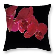 Inspired By Orchids Throw Pillow