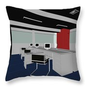 Interior Office Rooms Throw Pillow