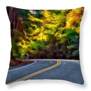 Into The Sunset Watercolor Throw Pillow