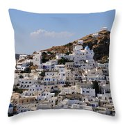 Ios Town Throw Pillow