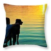 Island Throw Pillow by Laura Fasulo