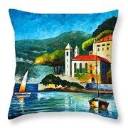 Italy Lake Como Villa Balbianello Throw Pillow