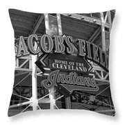 Jacobs Field - Cleveland Indians Throw Pillow