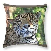 Jaguar 2 Throw Pillow