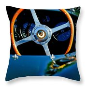 Jaguar Steering Wheel Throw Pillow