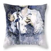 Jazz Billie Holiday Lady Sings The Blues  Throw Pillow by Yuriy  Shevchuk
