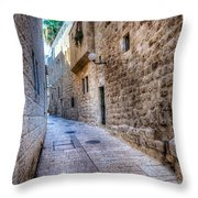 Jerusalem Street Throw Pillow