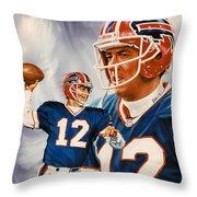 Jim Kelly Throw Pillow