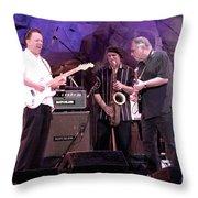 Guitarists Jimmie Vaughan And Duke Robbilard Throw Pillow