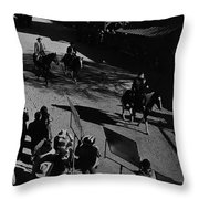 Johnny Cash Riding Horse Filming Promo Main Street Old Tucson Arizona 1971 Throw Pillow