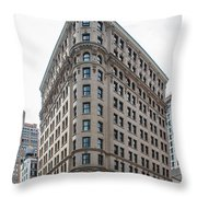 Johnston Building - Nomad Hotel Throw Pillow
