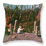 Jons Dock Throw Pillow