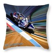 Jorge Lorenzo Throw Pillow