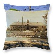Josephine F. Wilbur School In Little Compton Rhode Island Throw Pillow