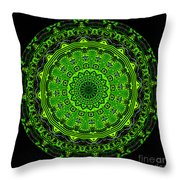 Kaleidoscope Of Glowing Circuit Board Throw Pillow by Amy Cicconi