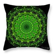 Kaleidoscope Of Glowing Circuit Board Throw Pillow