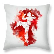 Karate Fighter Throw Pillow