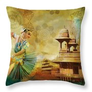 Kathak Dancer Throw Pillow by Catf