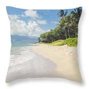 Kawililipoa Beach Kihei Maui Hawaii Throw Pillow