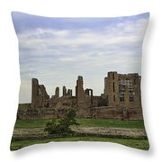 Kenilworth Castle Panorama Throw Pillow