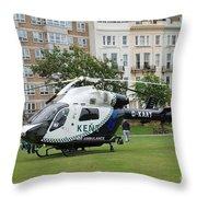 Kent Air Ambulance Throw Pillow