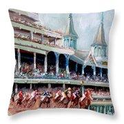 Kentucky Derby Throw Pillow