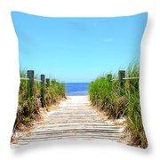Key West Beach Throw Pillow