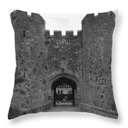 Keys To The Castle - Black And White Throw Pillow