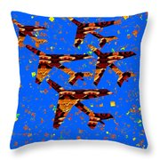 Kids Love Aeroplane Interior Decorations Signature   Art  Navinjoshi Artist Created Images Textures  Throw Pillow