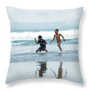 2 Kids Throw Pillow