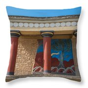 Knossos Palace Throw Pillow by Luis Alvarenga