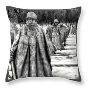 Korean War Memorial Washington Dc Throw Pillow