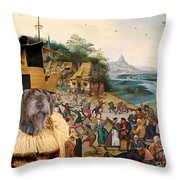 Korthals Pointing Griffon Art Canvas Print Throw Pillow