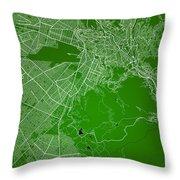 La Paz  Street Map - La Paz Bolivia Road Map Art On Colored Back Throw Pillow