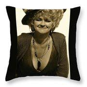 Lady Extra The Great White Hope Set Globe Arizona 1969-1984 Throw Pillow